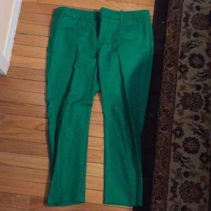 Emerald green pants!